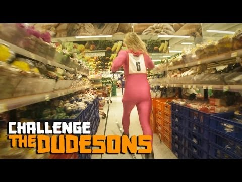 Skiing Competition In A Supermarket!