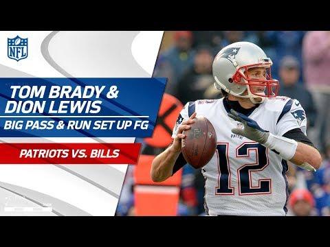 Video: Brady's Big Pass to Gronk & Lewis' Long Run Set Up Pats FG! | Patriots vs. Bills | NFL Wk 13