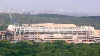 Andamento das obras da Arena Pernambuco - até Março de 2013
