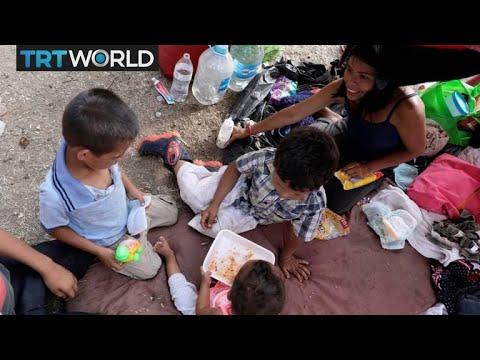 Honduras Migrants: Hundreds of people walking to US to seek asylum