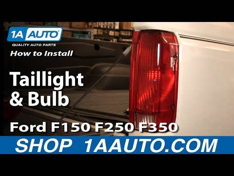 How To Install Replace Taillight and Bulb Ford F150 F250 F350 92-96 1AAuto.com
