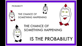 The Number Crunchers use the basic words needed for probability.
