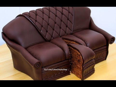 Chocolate Sofa Cake by Cakes StepbyStep