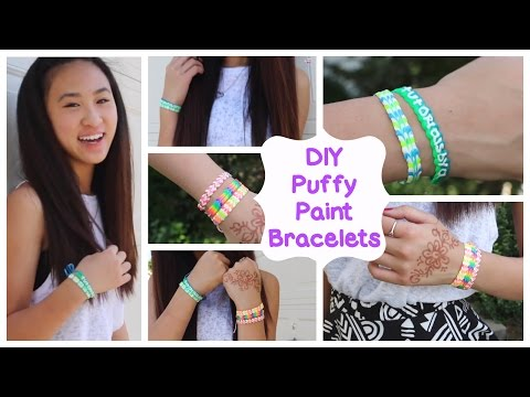 DIY Puffy Paint Bracelets | How To // Tutorial