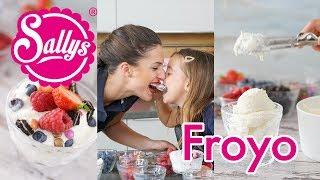 http://www.sallys-blog.deLust auf ein leckeres Eis? Dann ist Frozen Yogurt eine geniale Idee. Für die Basis brauchst du nur 4 Zutaten und kannst in minutenschnelle ein leckeres Eis zaubern – und dieses mit Toppings nach Wahl servieren. MEINE PRODUKTE: http://www.sallys-shop.deMeine Küchenmaschinen Top Angebote Kitchenaid & Kenwood: https://sallys-shop.de/kuechenmaschinen.html Sallys BACKBUCH: https://sallys-shop.de/buecher/sallys-classics-klassische-und-moderne-kuchen-und-torten.htmlSallys KOCHBUCH:https://sallys-shop.de/buecher/sallys-kochbuch-rezepte-fuer-kinder-1269.htmlSanapart: https://sallys-shop.de/san-apart-zum-sahnesteifen.htmlVanilleextrakt:https://sallys-shop.de/natuerliches-vanille-konzentrat-mit-samen-530.htmloriginal Sally Produkte:https://sallys-shop.de/sallys.htmlZitruspresse: https://sallys-shop.de/zitronenpresse.htmlMeine Sets: https://sallys-shop.de/sets.htmlMeine Silikonhelfer: https://sallys-shop.de/sonstige-werkzeuge.html?cat=69__Mein Name ist Sally. Ich bin 28 Jahre alt und von Beruf Lehrerin. In meiner Freizeit liebe ich es zu kochen und zu backen. Ich drehe Koch- und Backvideos und gebe nützliche Tipps für den Haushalt. Mindestens jeden Mittwoch, Freitag und Sonntag dürft ihr euch über ein neues Video von mir freuen! Auch Do it Yourself Videos, Sally On Tour und weitere Videos findet ihr bei mir.Homepage: http://www.sallyswelt.deShop: http://www.sallys-shop.deFacebook: http://www.facebook.com/sallystortenweltInstagram: http://instagram.com/sallystortenweltBlog: http://www.sallys-blog.deKontakt: info@sallystortenwelt.deSallys Shop GmbH & Co. KGLindenhofplatz 1178727 Oberndorf am Neckar Deutschland