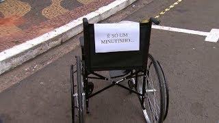 Campanha de conscientização no trânsito aborda a falta de respeito às vagas de idosos e deficientes