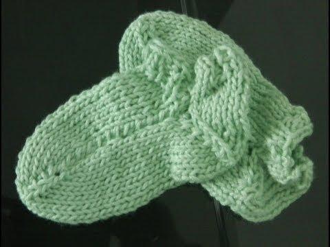 Linkshänder Socken stricken super einfach [3] Fußbett und Spitze
