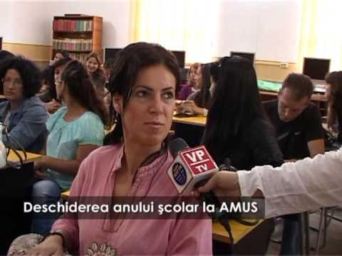 Deschiderea anului şcolar la AMUS