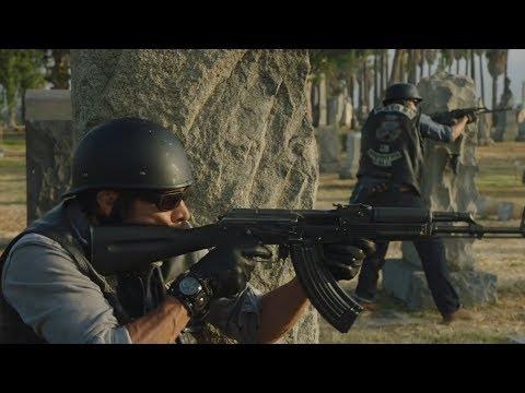 Mayans MC 1x01 - Cemetary Shootout Scene - SAMDINO Returns (1080p)