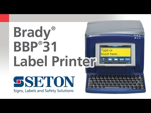 Brady® BBP®31 Sign and Label Printer | Seton Video