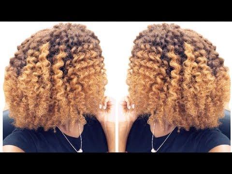 Flat Twist On My Newly Colored Hair! | W/ Mielle Organics