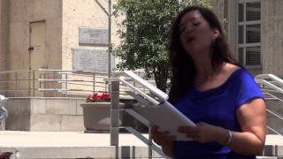 Houston's first Poet Laureate, Gwendolyn Zepeda, delights Houstonians with her free poetry. In this piece she reads
