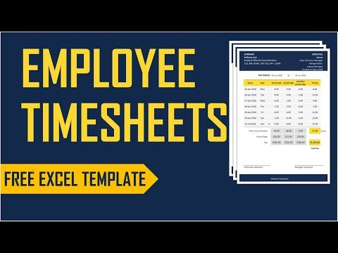 Employee Timesheets Excel Template - Time Card - Work Hours Calculator
