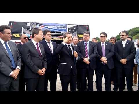 Presidente da OAB-PB, Paulo Maia, em ato de desagravo em favor de advogado agredido por policiais