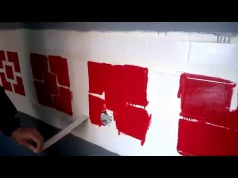 Интересные идеи по покраске настенной плитки