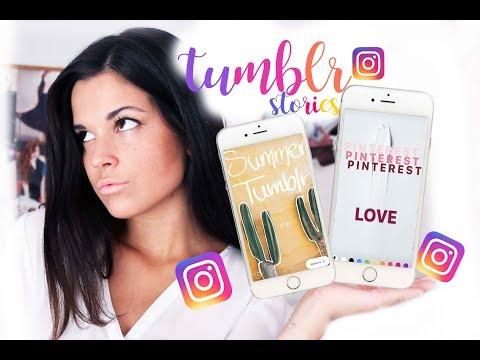 Frases Tumblr - CÓMO HACER INSTAGRAM STORIES TUMBLR! TRUCOS Y TIPS (HACKS)