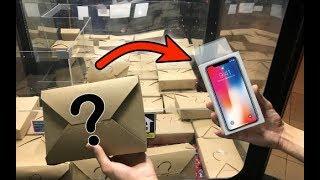 Zap zap - FOUND an iPhone X from MYSTERY BOX CLAW MACHINE!  JOYSTICK