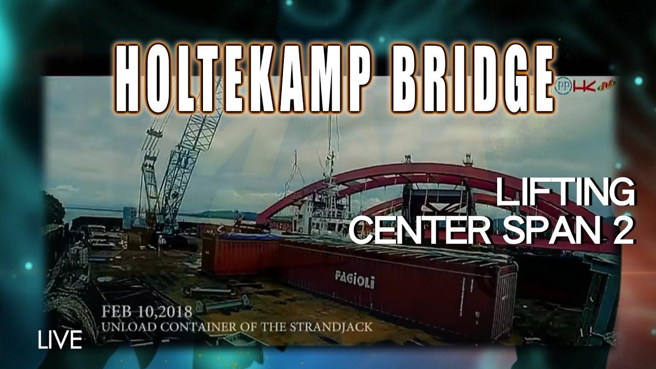 Lifting Center Span 2 Jembatan Holtekamp, Jayapura – Papua