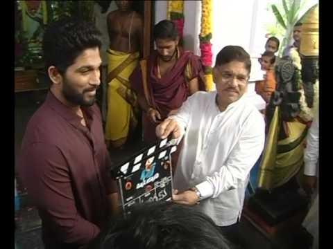 Video Allu Arjun New Movie Shooting clap by Allu Aravind download in MP3, 3GP, MP4, WEBM, AVI, FLV January 2017