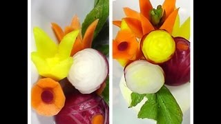 How to make Vegetable Garnish - Food Decoration - Plating Garnishes - Food Presentation - Food Art