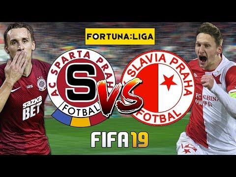 """FIFA 19 CZ   Sparta Praha - Slavia Praha   Derby pražských """"S""""   CZ/SK"""