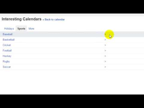 How To Subscribe To Sports Matches In Google Calendar