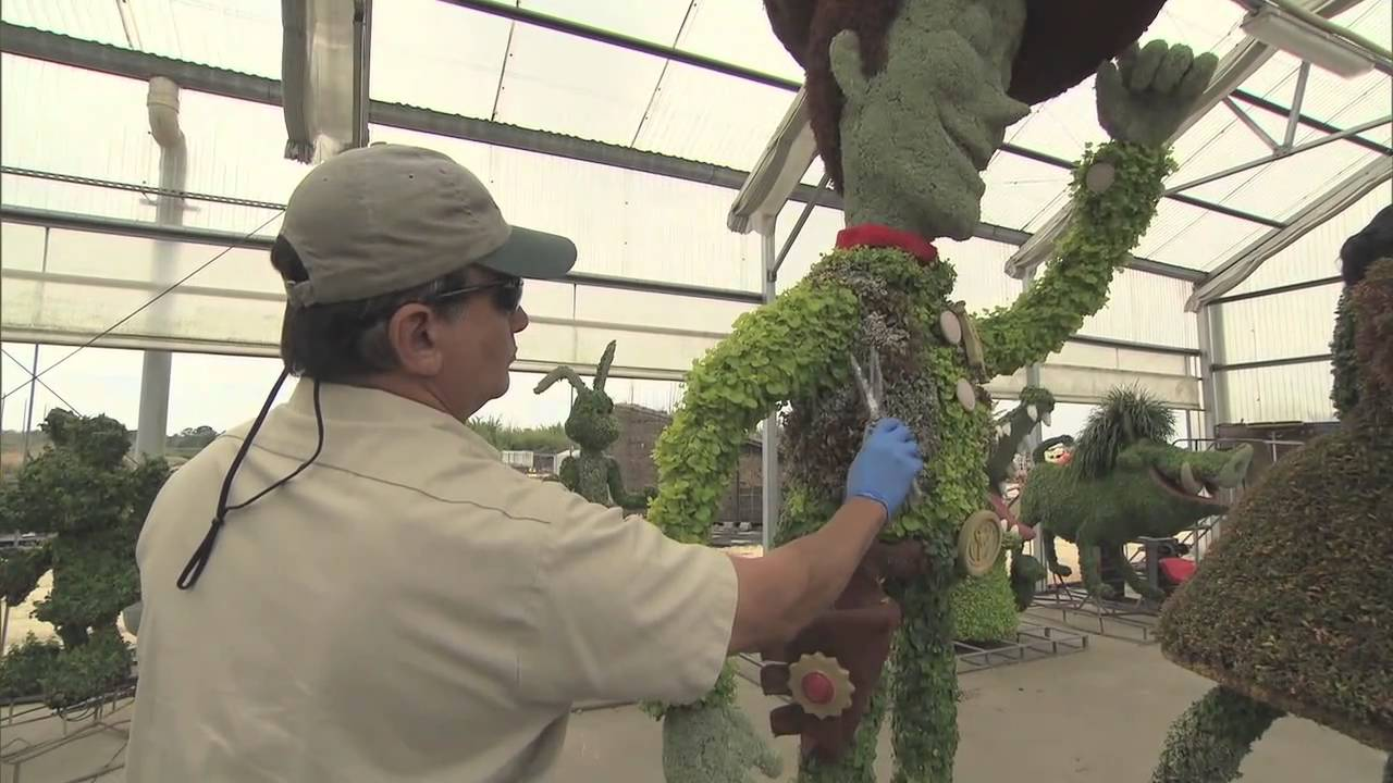 2011 Epcot Flower and Garden Festival preparations backstage
