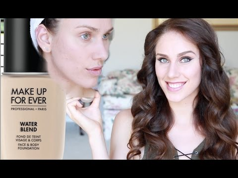 😜 Foundation TESTED: New MUFE Water Blend + My Oily Acne Prone Skin | Cassandra Bankson