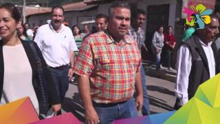 Jesús Mora encabeza pega del bando solemne de festejos patrios.