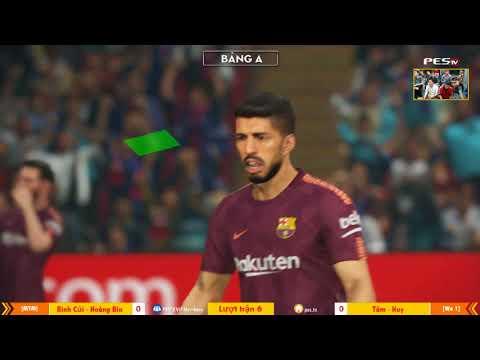 PES League 2v2 | [MYM] Bình Củi + Hoàng Bin vs [WE1] Tâm Barca + Ken Nguyễn 23-12-2017