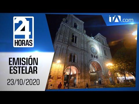 Noticias Ecuador: Noticiero 24 Horas, 23/10/2020 (Emisión Estelar)
