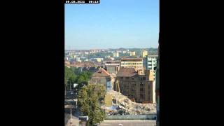 [Time Lapse] Wyburzenie budynku Zakładów Przemysłu Odzieżowego Dana w Szczecinie