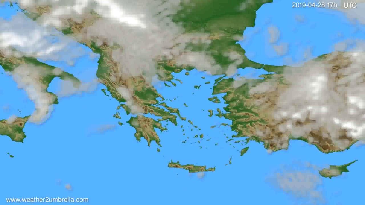 Cloud forecast Greece // modelrun: 00h UTC 2019-04-27