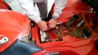 9. ATV battery installation