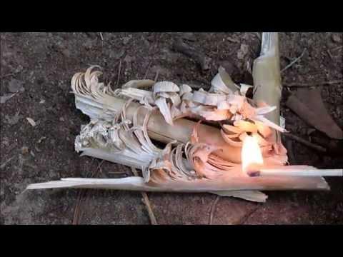 Bushcraft: Feather Stick Fire