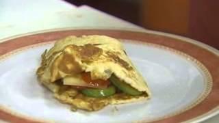 Rollito de tortilla con verduras
