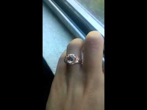 Morganite E Ring from Camellia Jewelry on Etsy