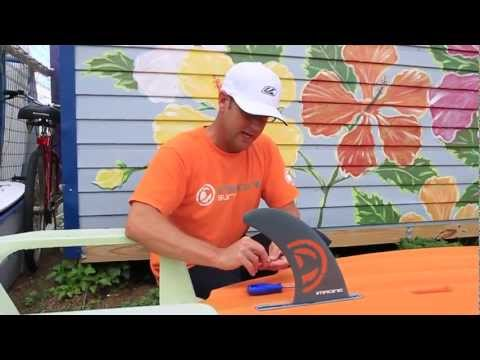 SUP Fins - Watch how to Install and SUP Fin