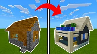 Minecraft Tutorial: How To Transform a Village Library Into A Modern Library