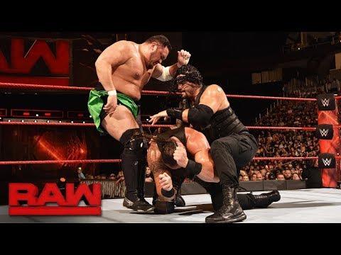 Roman Reigns vs. Braun Strowman vs. Samoa Joe - Triple Threat Match Raw, July 31, 2017