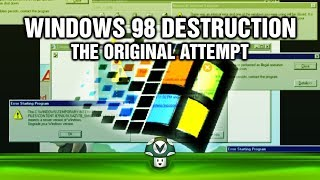 The unofficial prequel of Joels attempt of pumping up computers with viruses until they are unusable. Unlike XP, 98 didn't turn out...