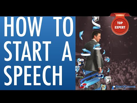 How to Start a Speech | Deliver a Speech | Public Speaking | Professional Communication Skills