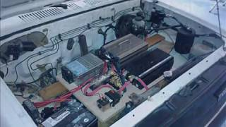 http://www.useafuel.com - Converting a gas powered 93 Mazda pickup to a 100% electric vehicle.  This is a freeway capable conversion kit with speeds of 80+ mph. Part 1 shows all of the steps taken to remove old and install new components.