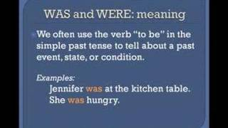 The Simple Past Tense, Basic English Grammar Lesson 3a