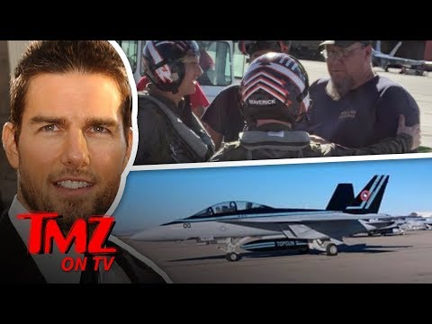Tom Cruise AKA Capt. Pete Maverick Reporting For Flight Duty | TMZ TV