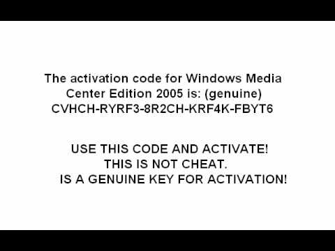 Windows MCE 2005 serial