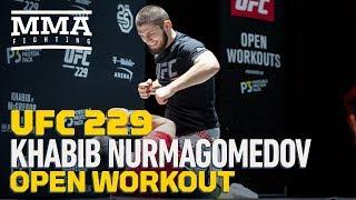 Video Khabib Nurmagomedov UFC 229 Open Workout (Complete) - MMA Fighting MP3, 3GP, MP4, WEBM, AVI, FLV Oktober 2018