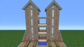 Minecraft Tutorial: How To Make A Brick House - 15 (Interior And Exterior Included)