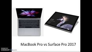 MacBook Pro versus Surface Pro 2017 Review [Which is Best?]