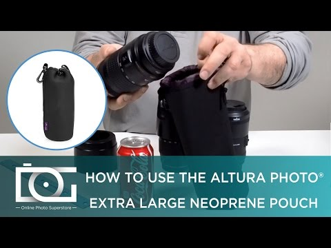 Extra Large Camera Lens Pouch for CANON, NIKON, SIGMA, TAMRON & Other Cameras Lenses | Altura Photo®